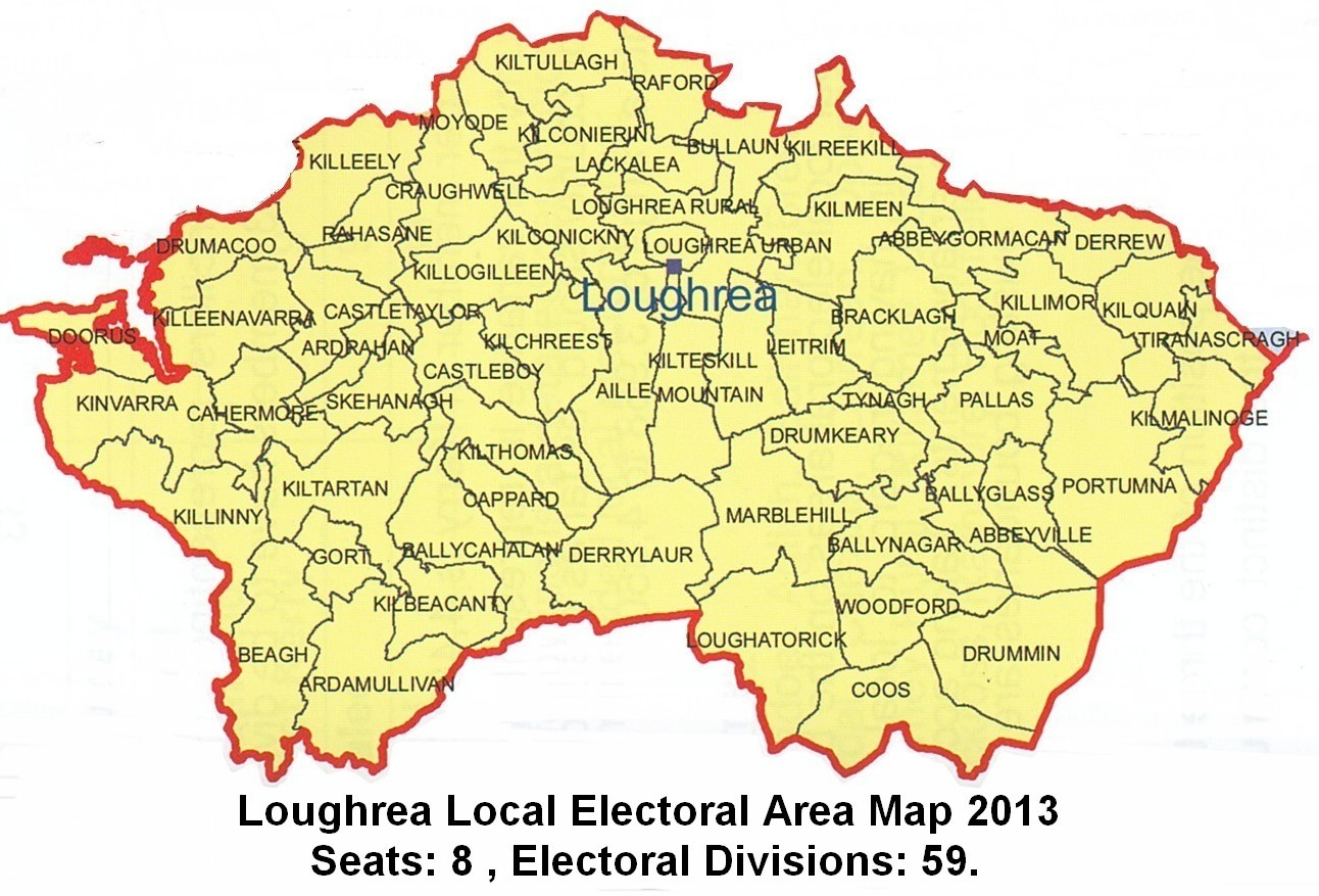 Loughrea Electoral Area Map 2013