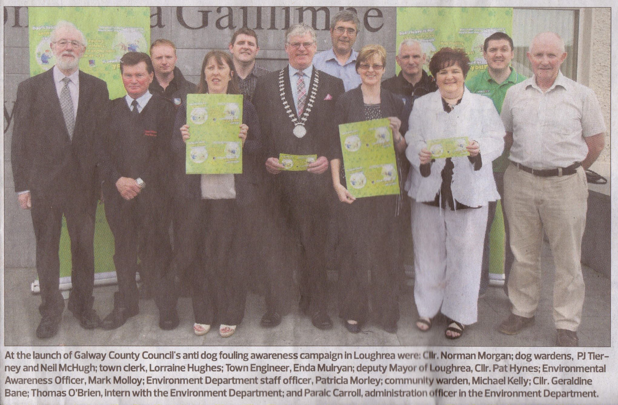 Loughrea Anti dog fouling awareness campaign